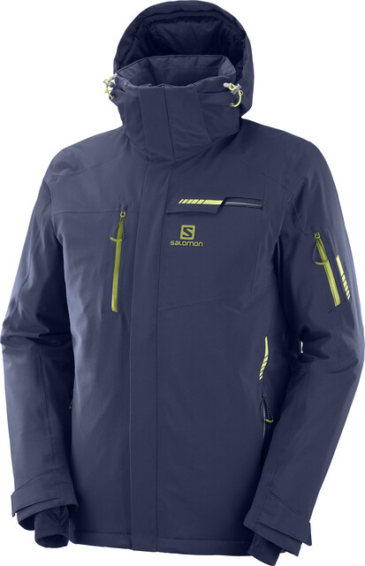 SALOMON Men's Brilliant Jacket, Night Sky, Medium